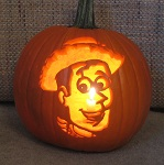 Woody (Toy Story) pumpkin